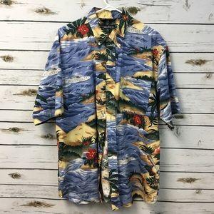 NAUTICA men's Hawaiian shirt size L